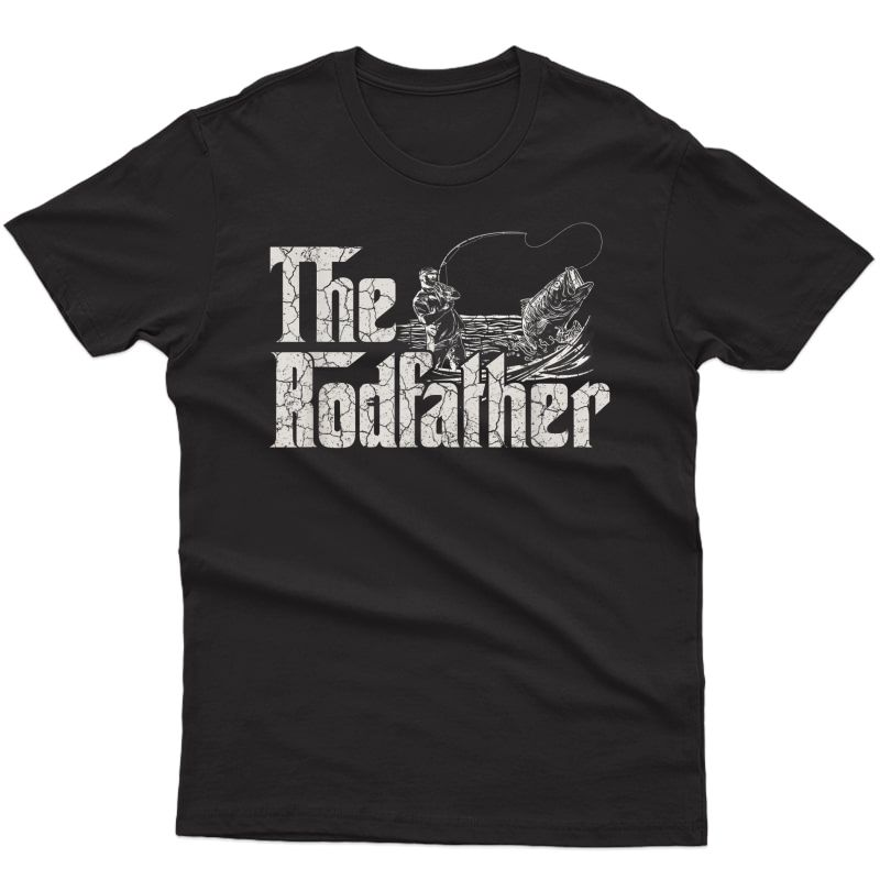 The Rodfather Funny Fishing Tshirt For Fisherman Gift