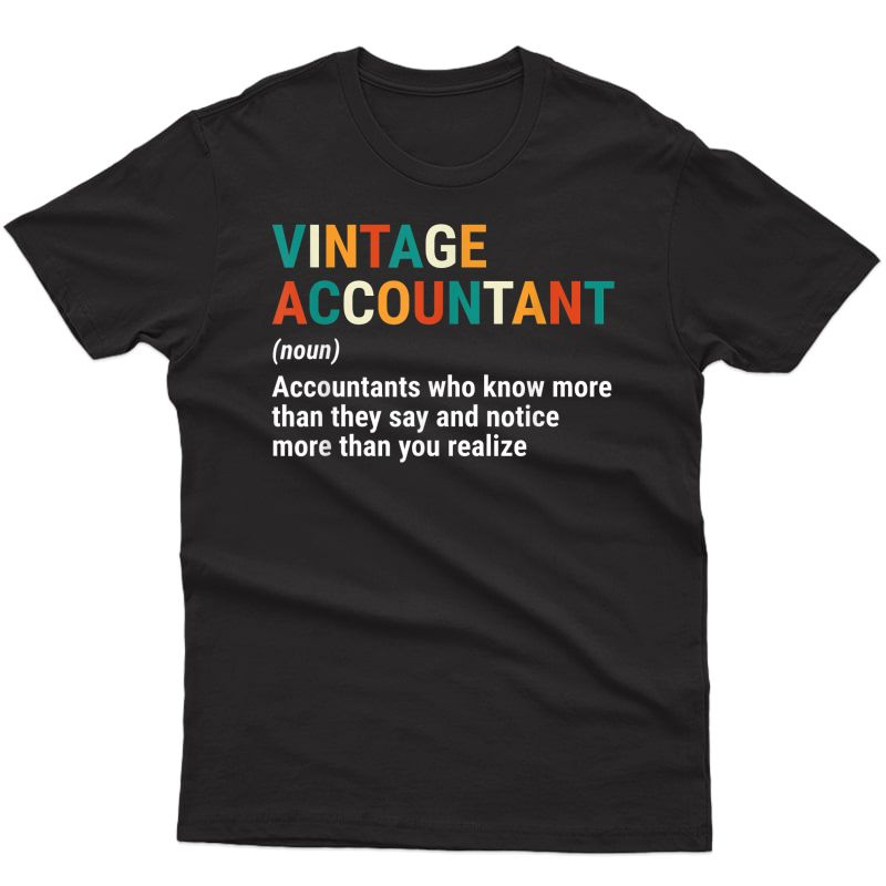 Vintage Accountant Definition Noun Funny Accounting Cpa T-shirt