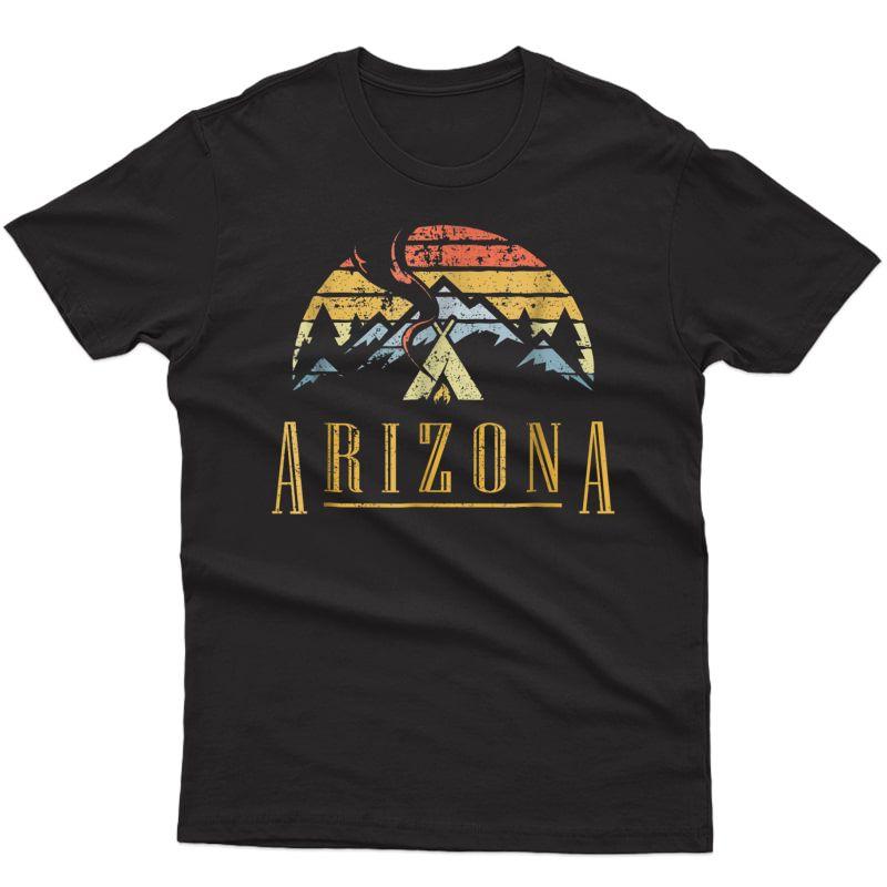 Vintage Arizona Mountains Camping Campfire Retro T Shirt