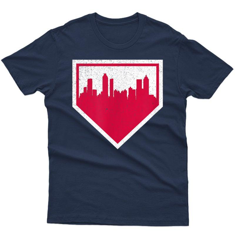 Vintage Atlanta Baseball Atl Home Skyline T-shirt