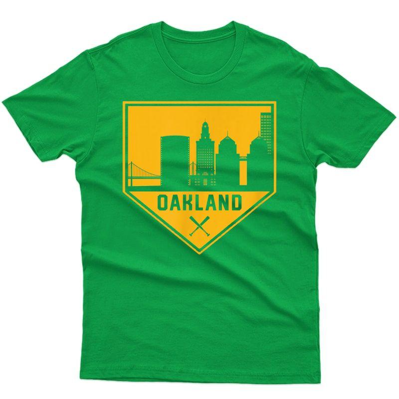 Vintage Oakland Is Home Baseball City Skyline Shirt