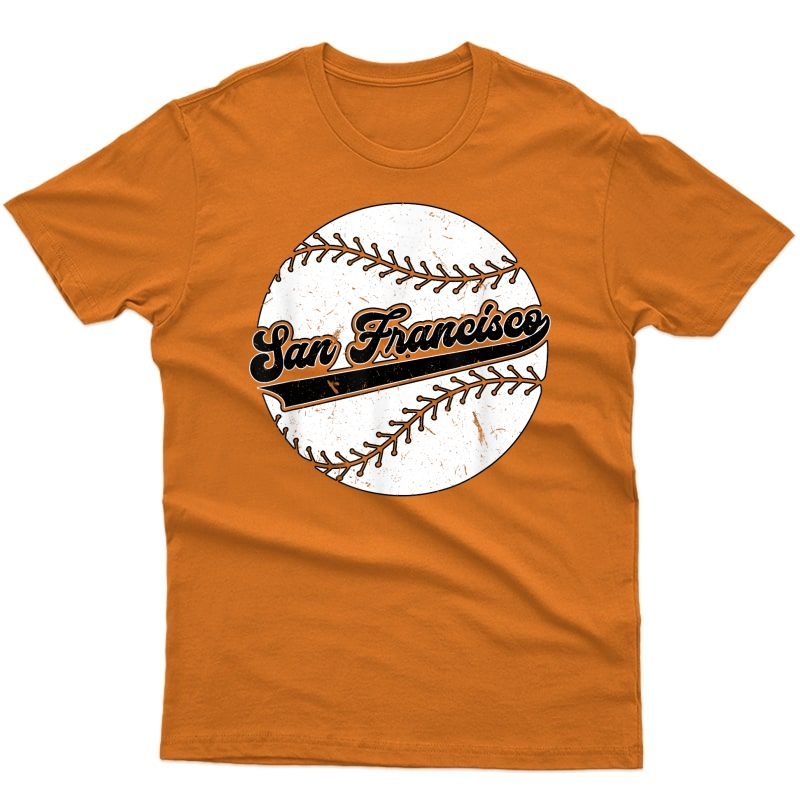 Vintage San Francisco Baseball Retro Distressed T-shirt