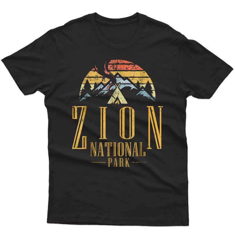 Vintage National Park Campground Campfire Retro T Shirt