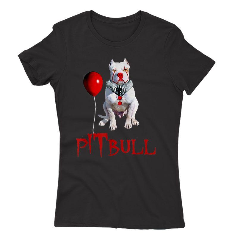 We All Woof Down Here Clown Dog Pitbull T-shirt