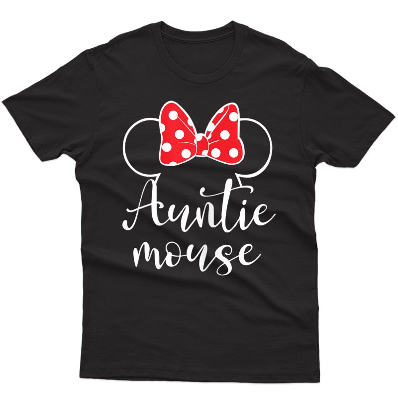 Auntie Mouse Tee, Funny Aunt Gift Tee, Aunt Birthday Party T-shirt
