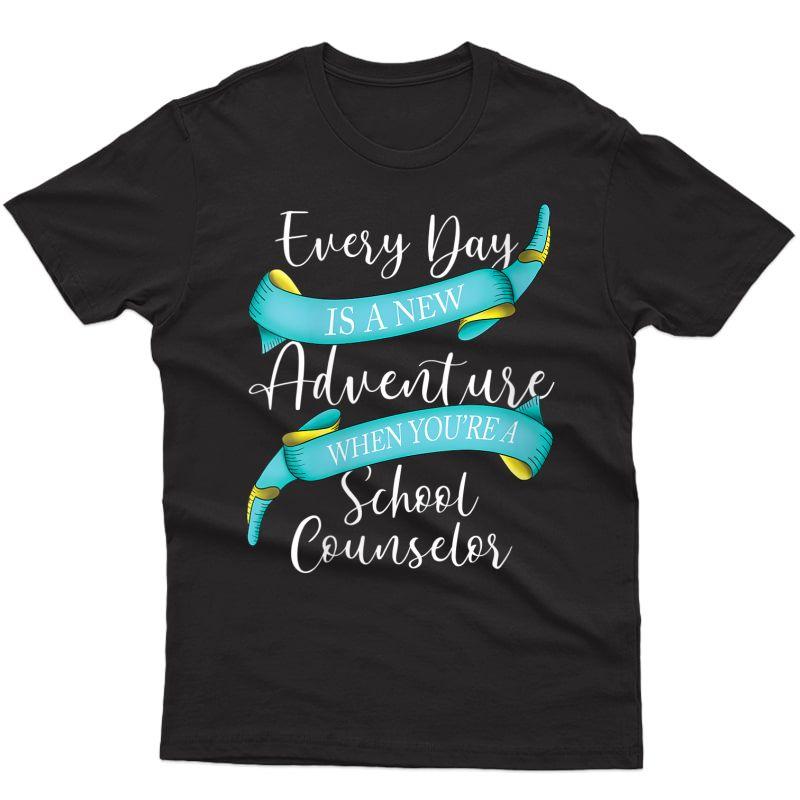 School Counselor Tea Counseling Advisor Appreciation T-shirt